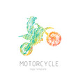 motorcycle creative grunge silhouette vector image
