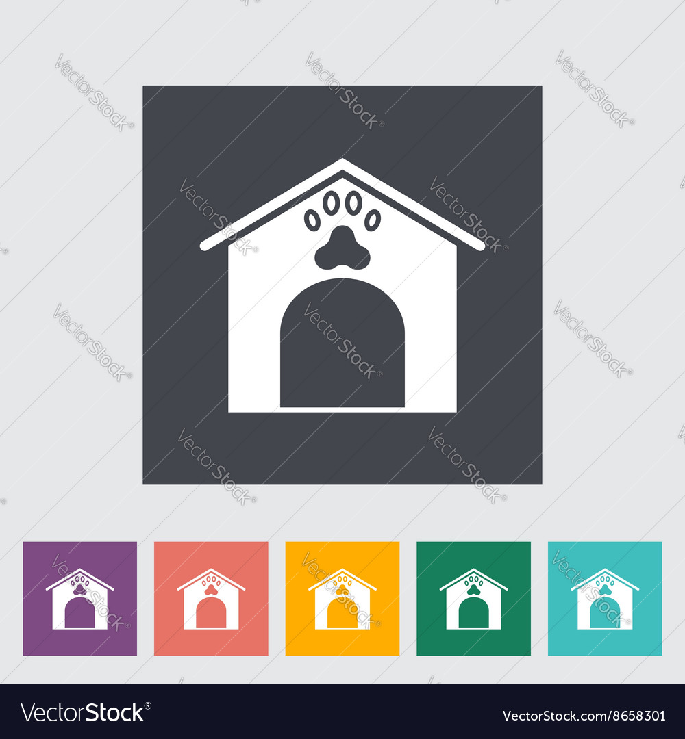 Kennel flat icon vector
