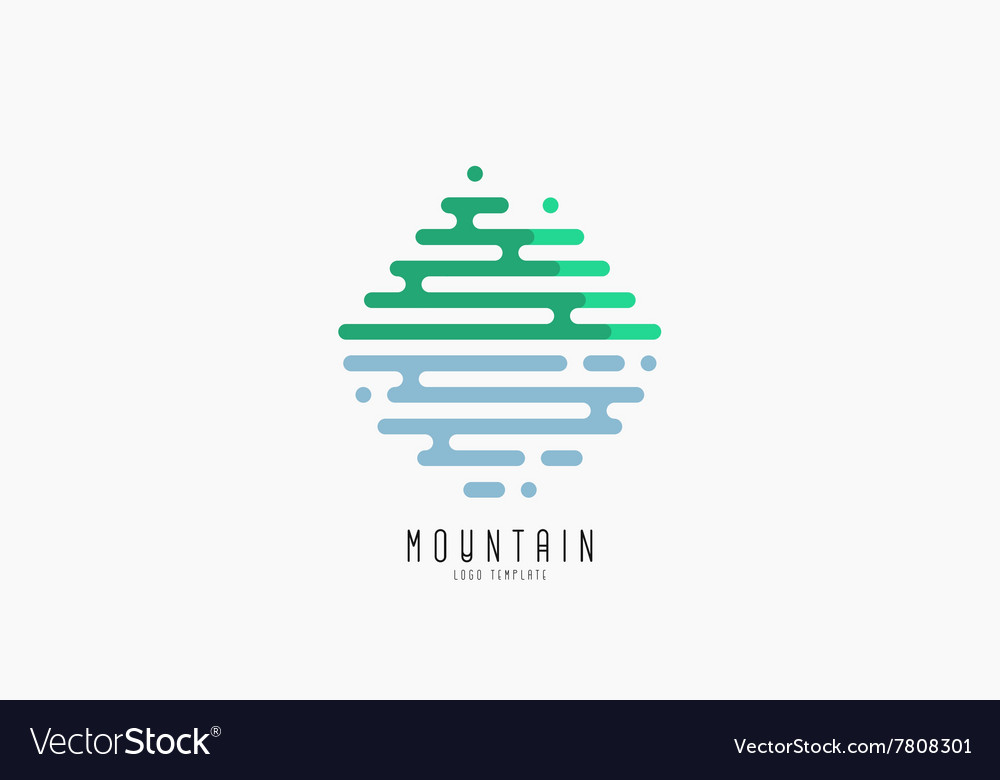 Mountain line logo beautiful logo creative logo vector