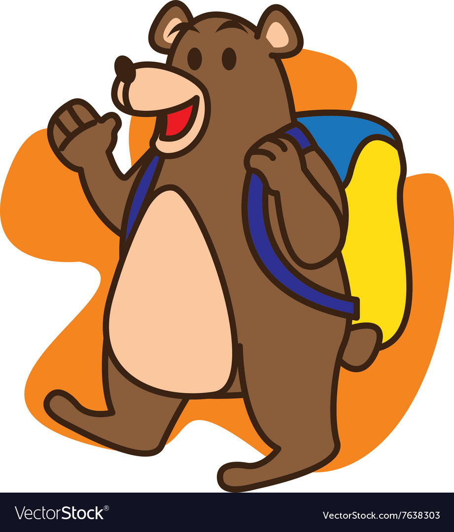Bear school vector