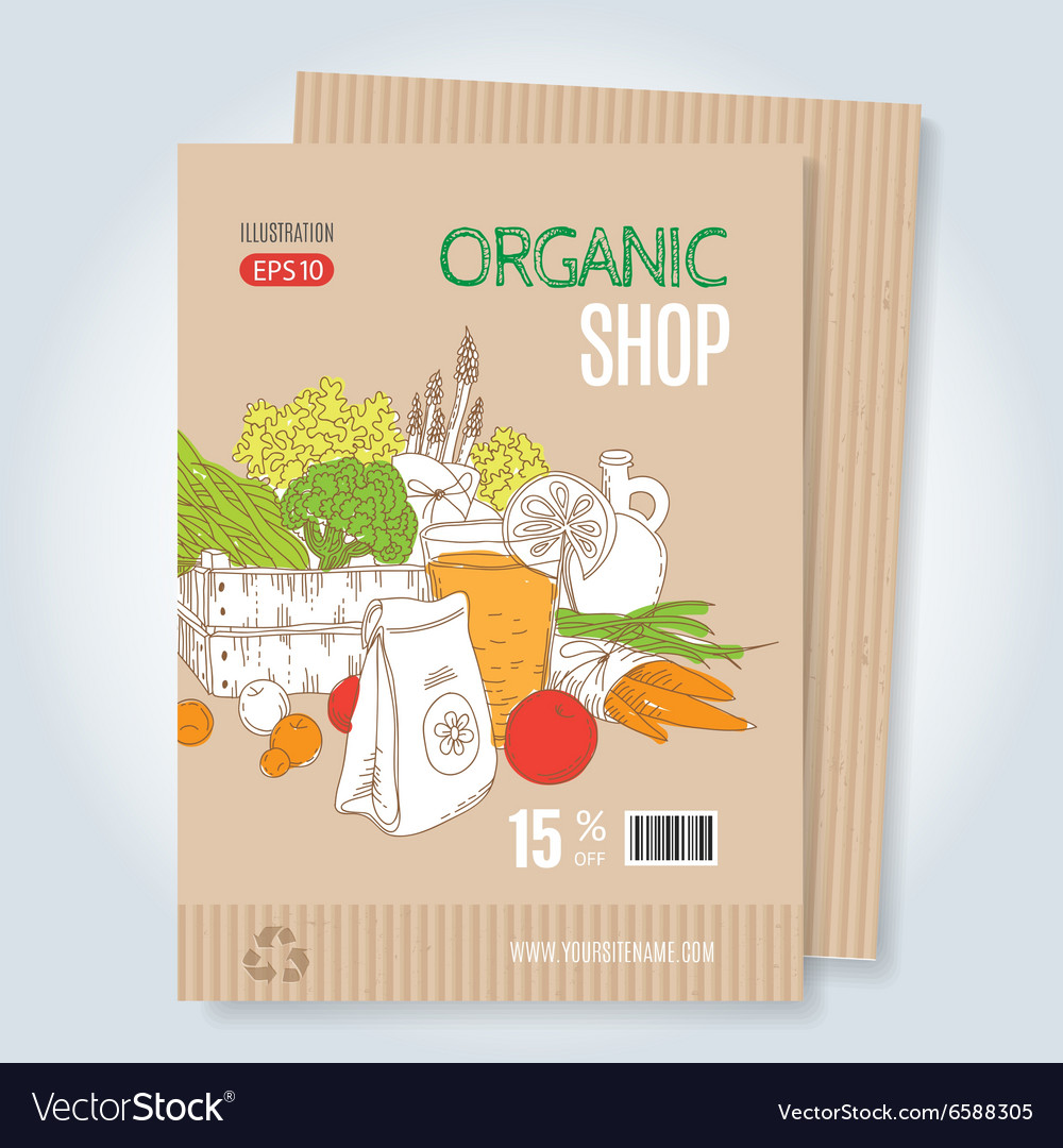 Organic shop template vector