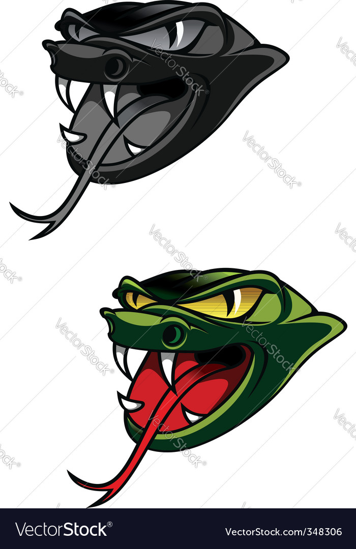 Danger snake vector