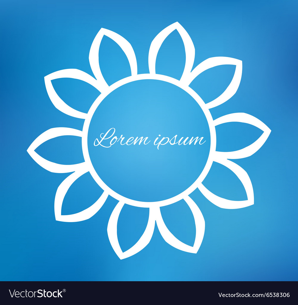 Flower on blurred background vector