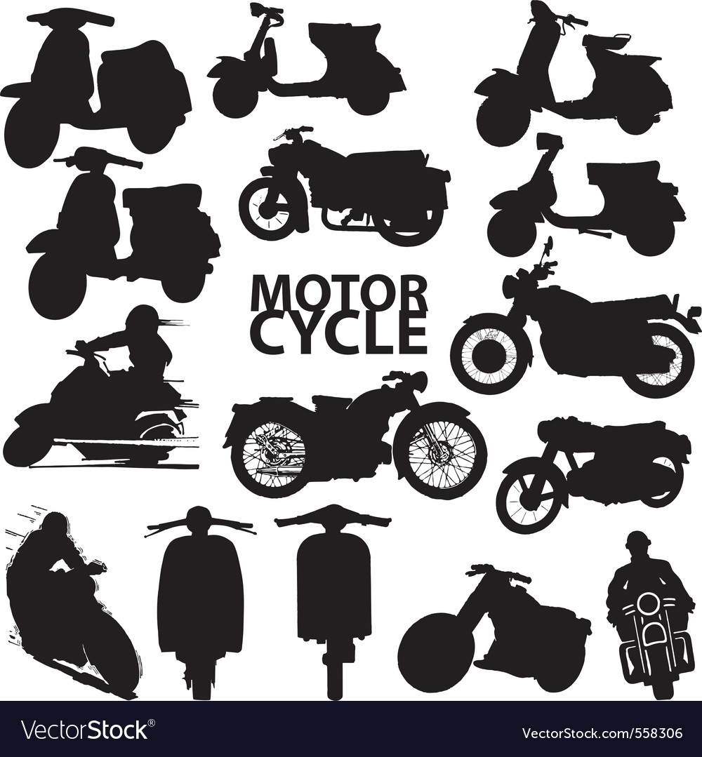 Motorcycles vector