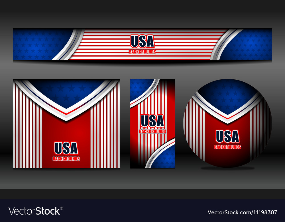 Usa flag banner backgrounds vector