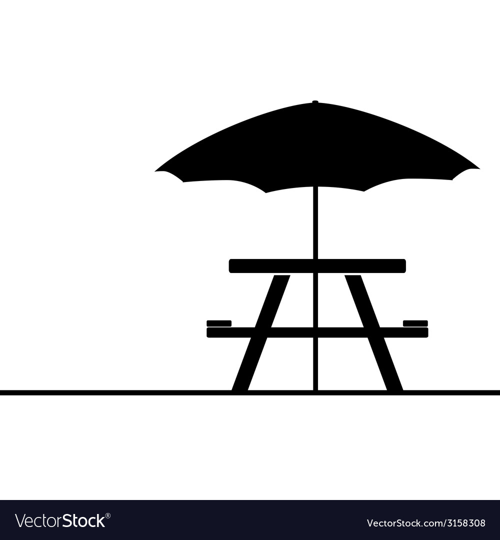 Camping and picnic table icon vector