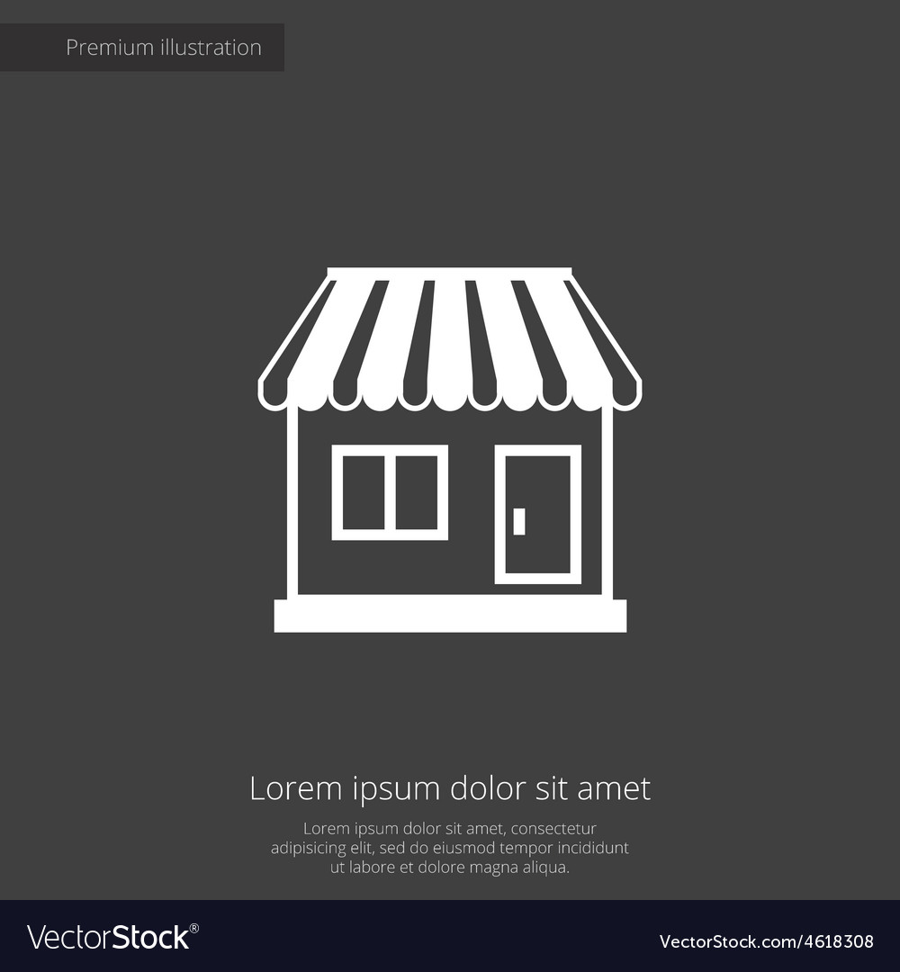 Shop premium icon vector