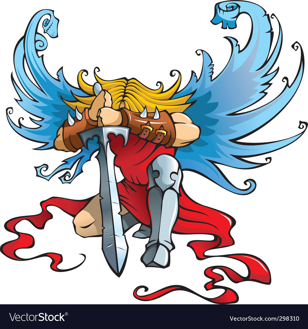 Angel the warrior vector