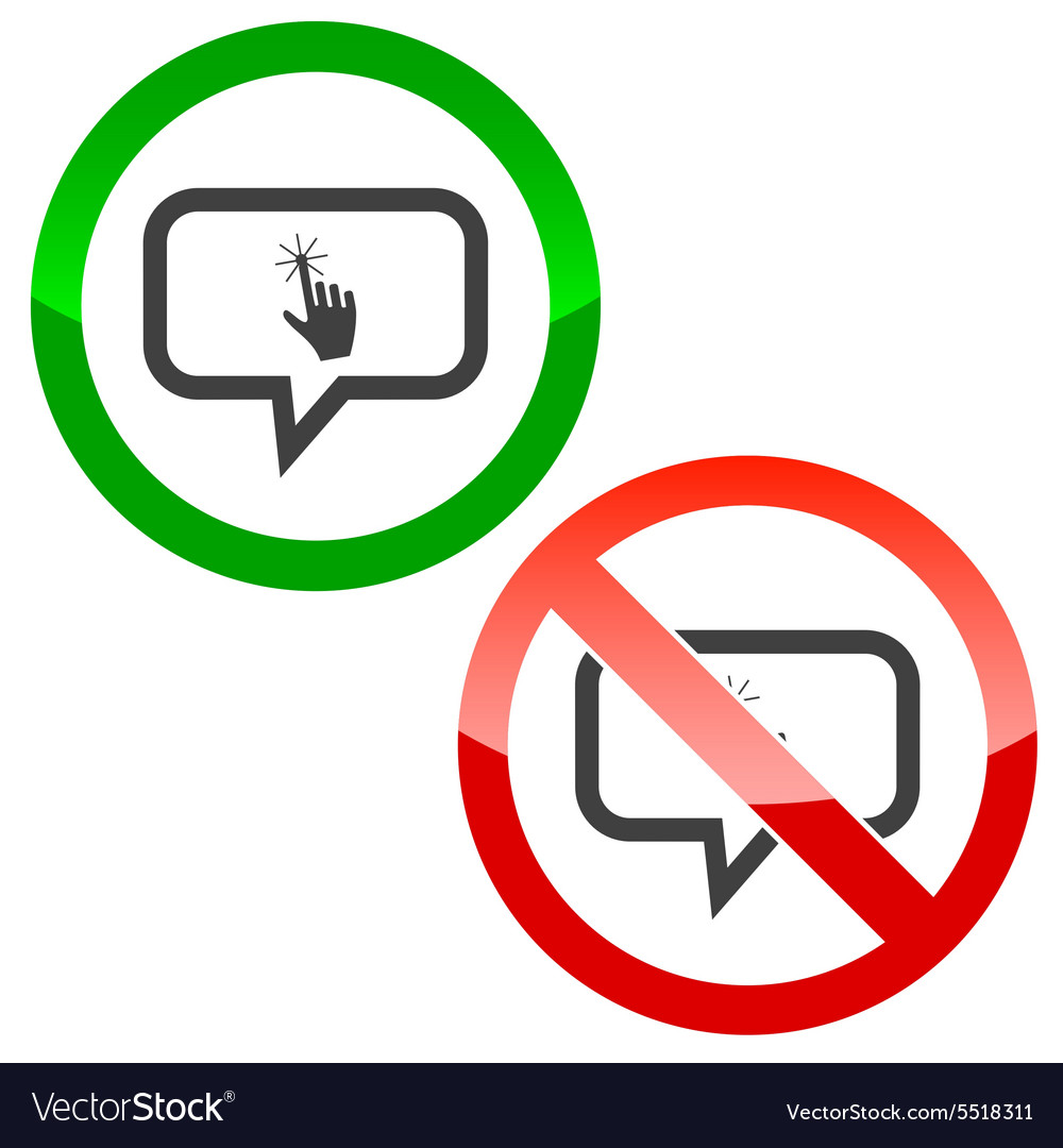 Touch message permission signs vector