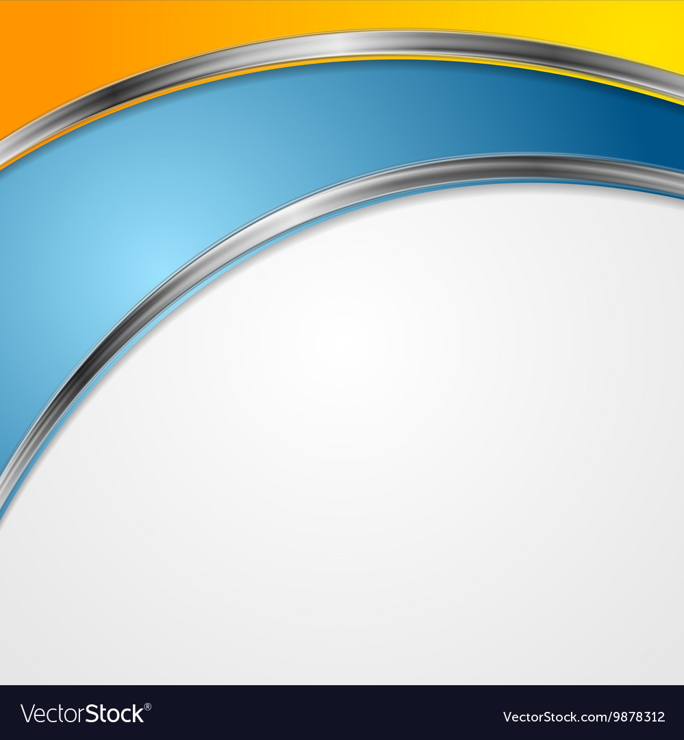 Bright corporate background with silver waves vector