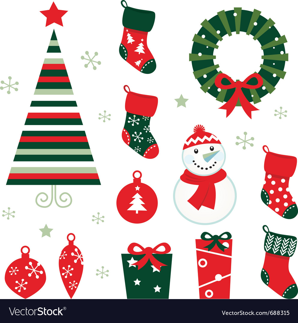 Christmas and winter design vector
