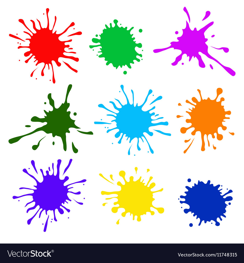 Colorful splatters vector