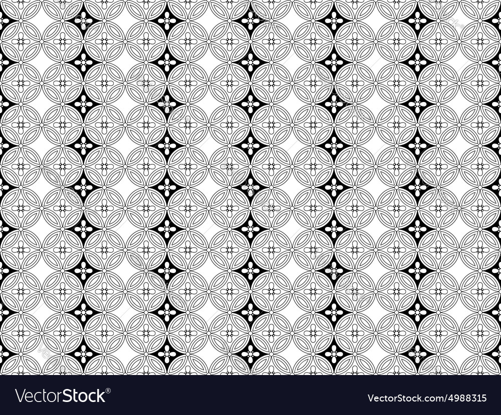 East seamless pattern vector