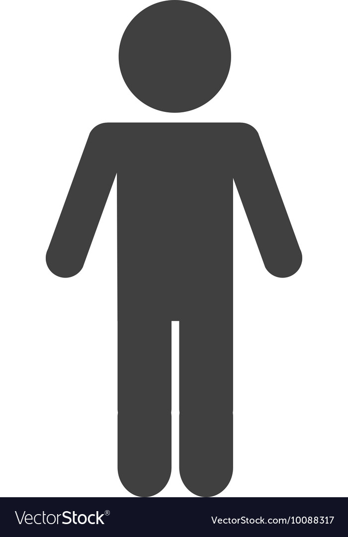 Man male silhouette isolated icon vector