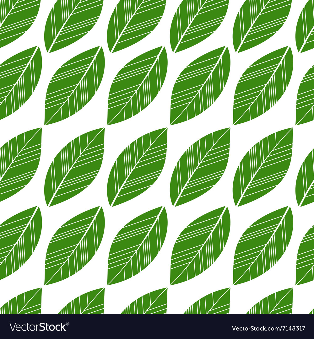 Seamless leaves isolated vector