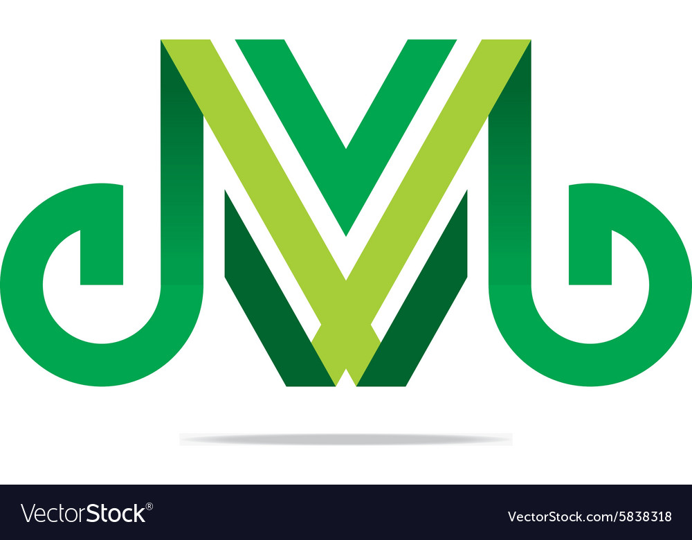 Logo abstract lettering m alphabet icon design vector