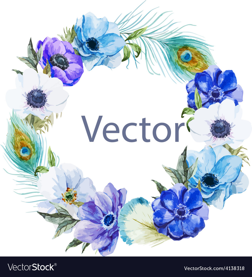 Nice anemones wearth vector