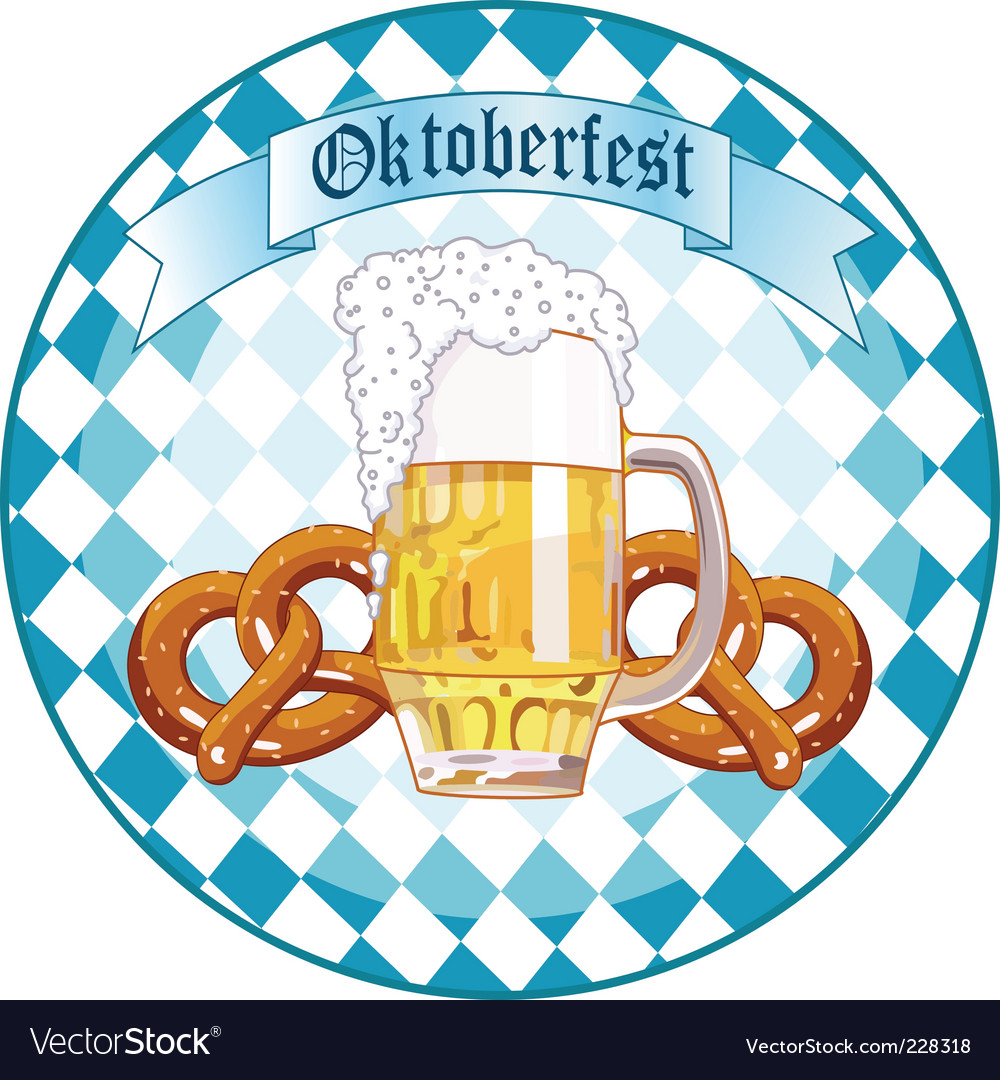 Oktoberfest celebration round design vector
