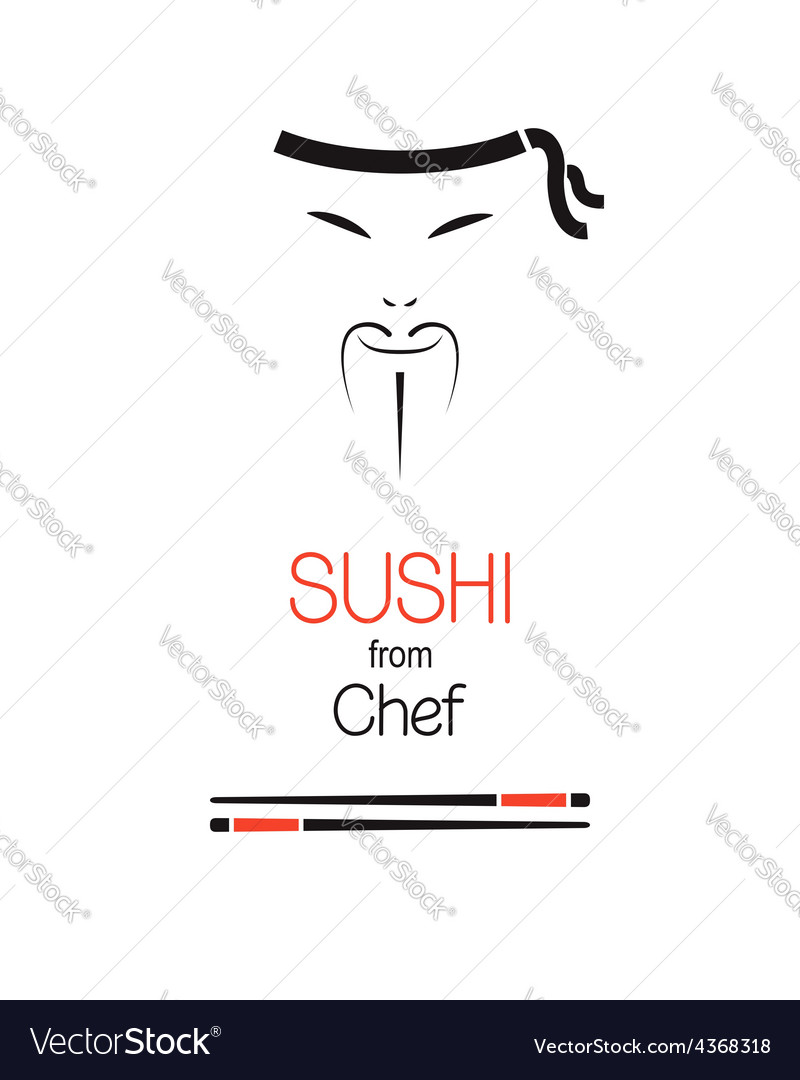 Sushi chef vector