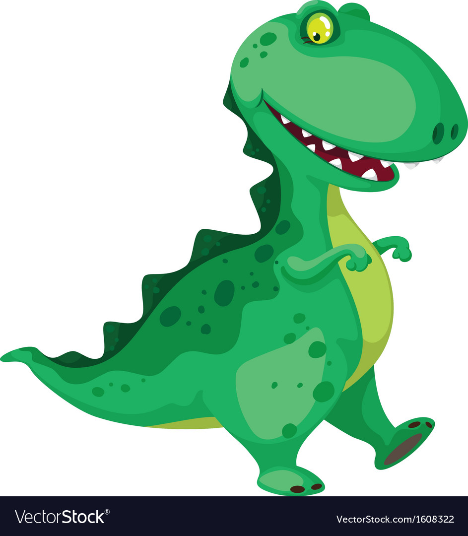 Going dinosaur vector