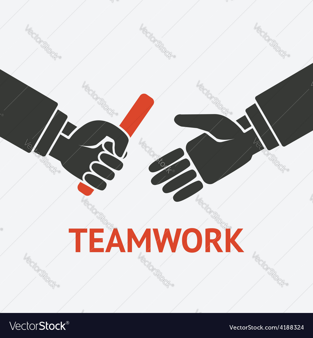 Relay teamwork concept symbol vector