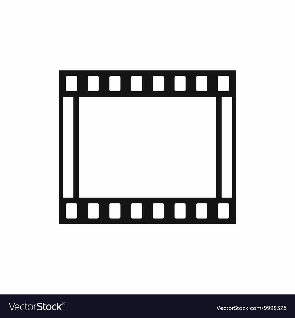 Film with frames movie icon simple style vector