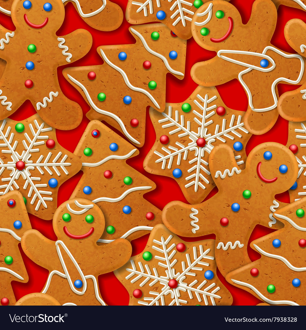 Background with gingerbread vector