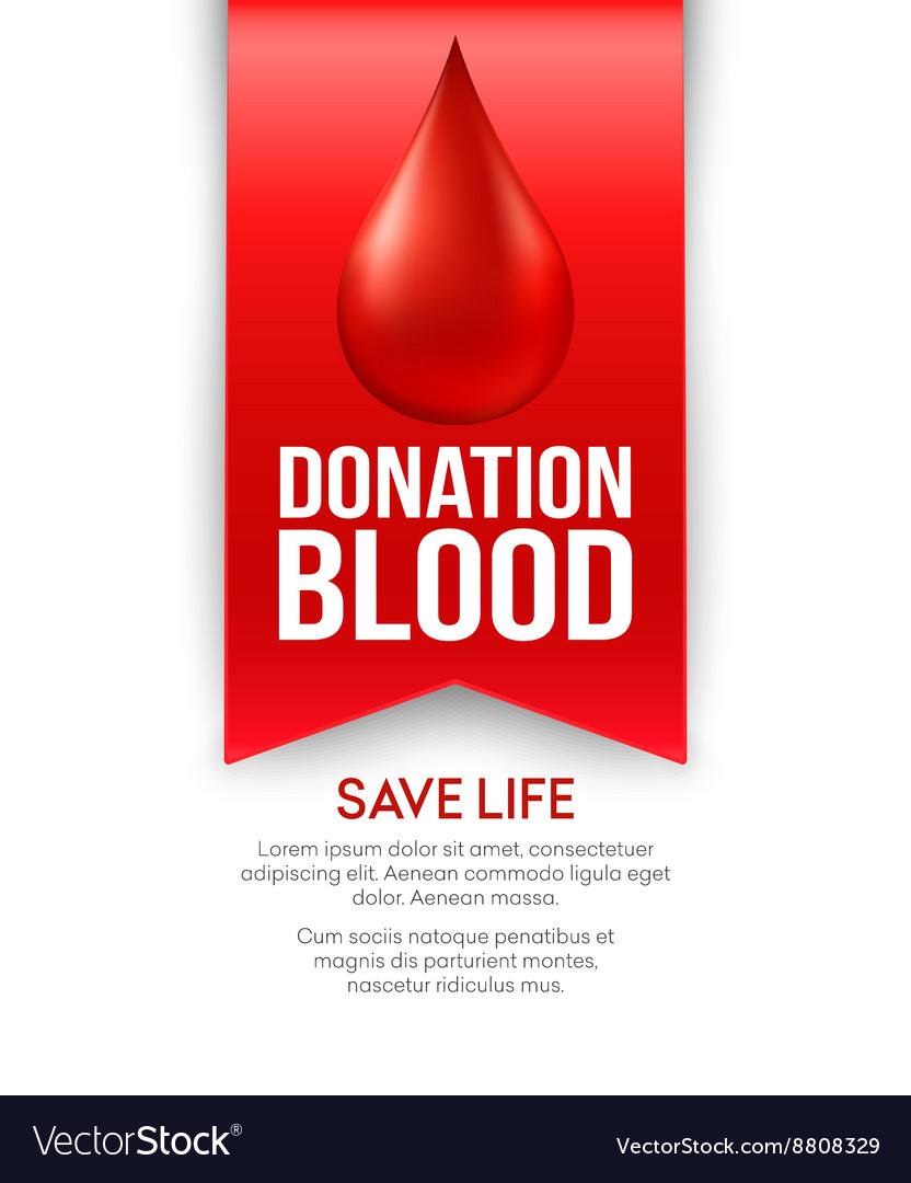 Donate blood poster design vector