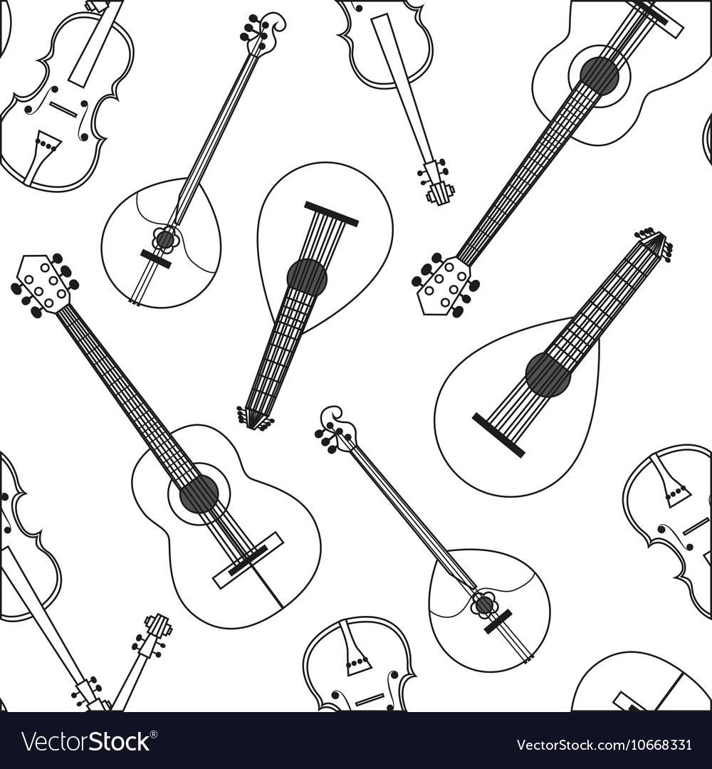 Seamless pattern with musical vector