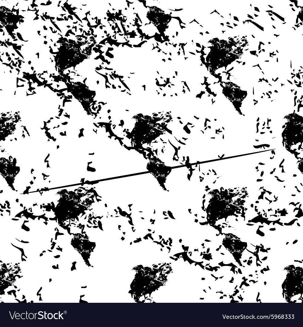 American continents pattern grunge monochrome vector