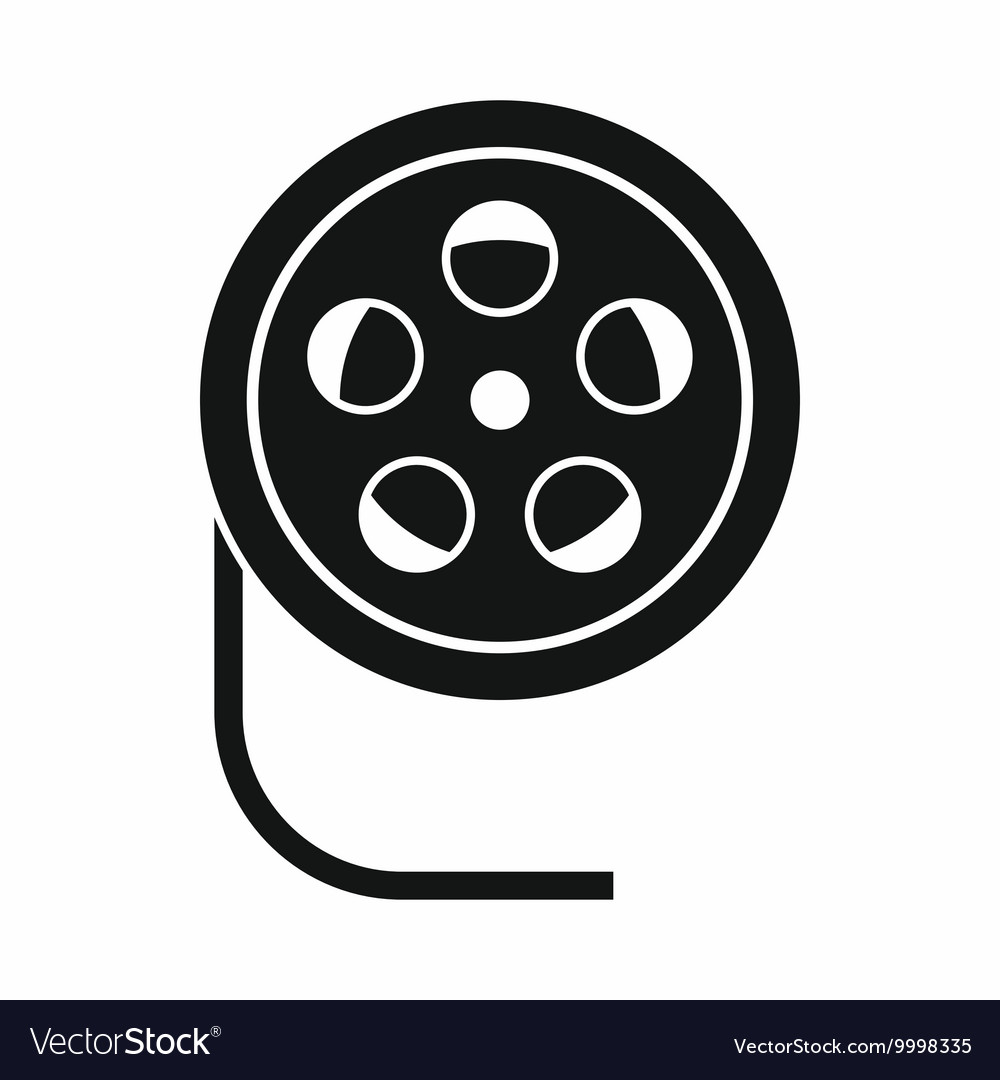 Reel with film icon simple style vector