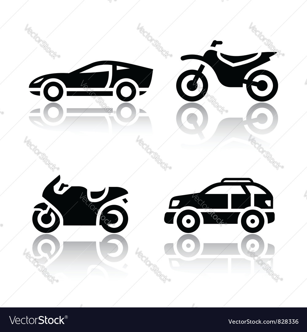 Set of transport icons  sports transportation vector