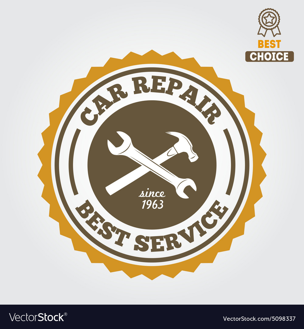 Vintage mechanic labels emblems and logo vector