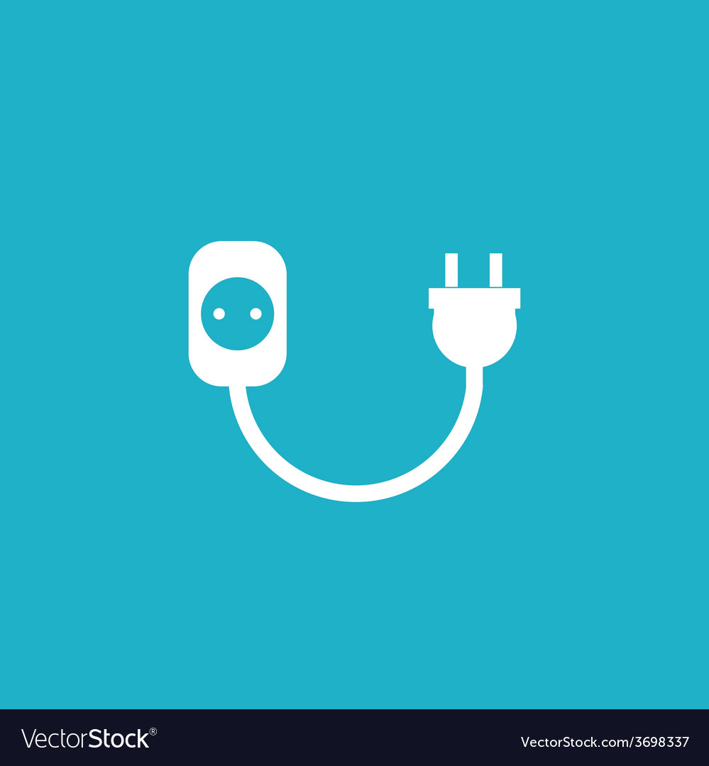 Wire socket and electric plug design vector