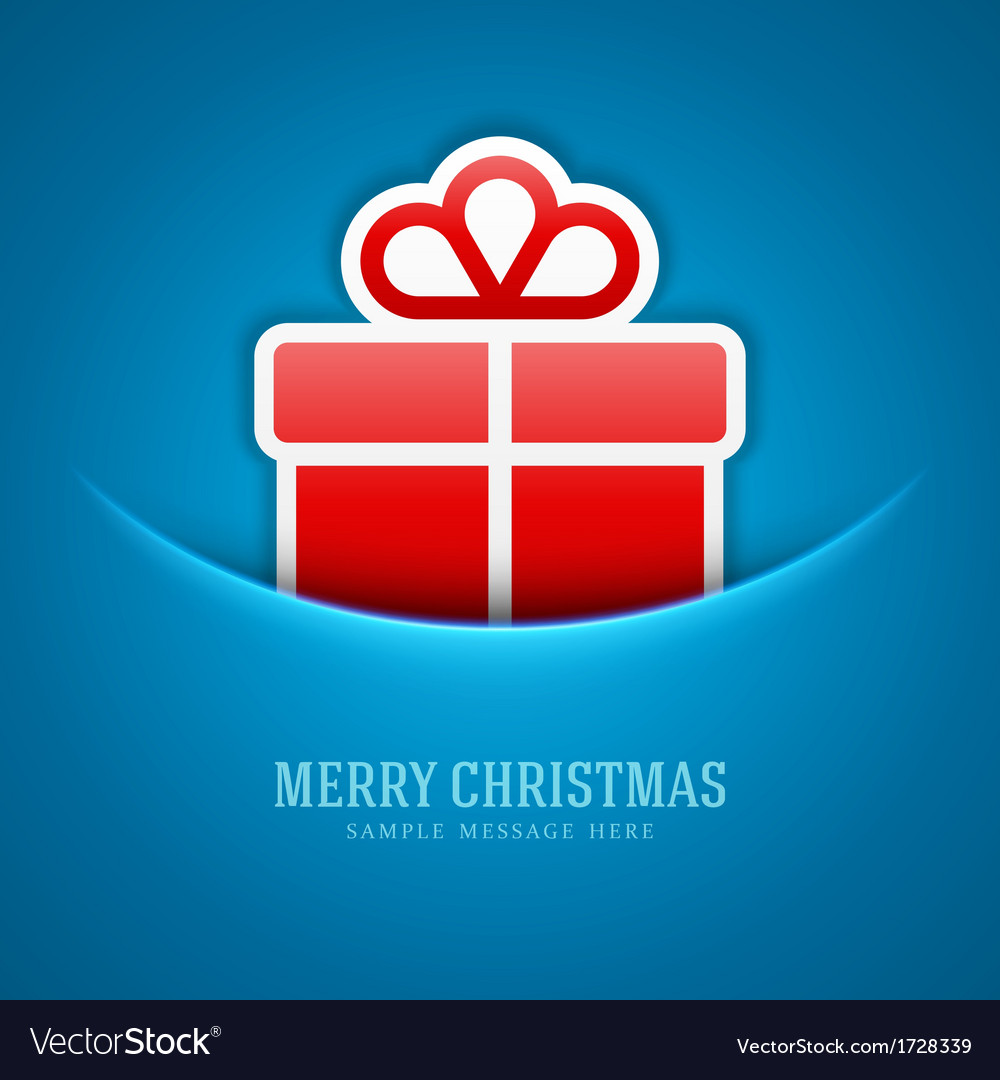 Christmas card and gift box decoration background vector