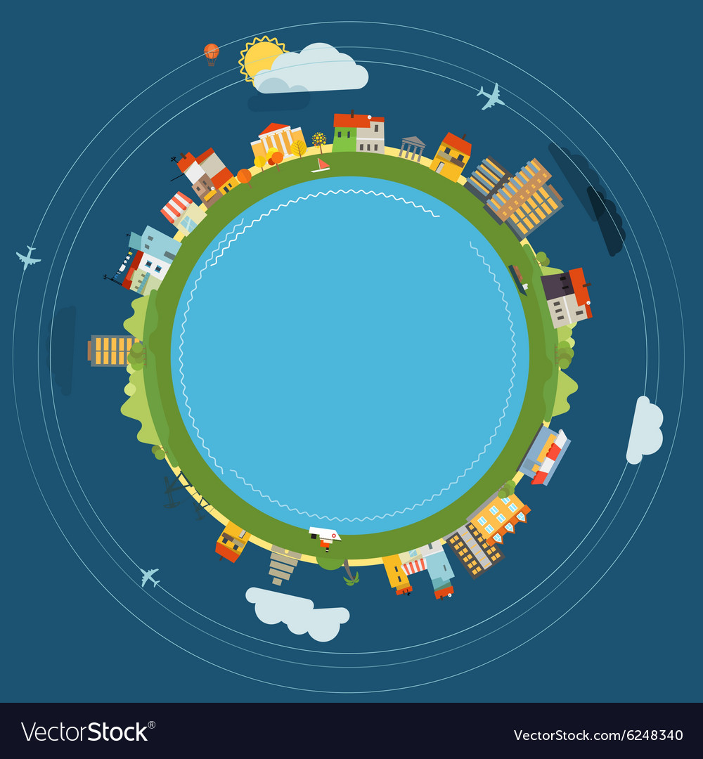 Flat design of the earth vector