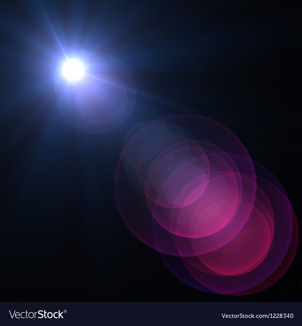 Star sun with lens flare vector