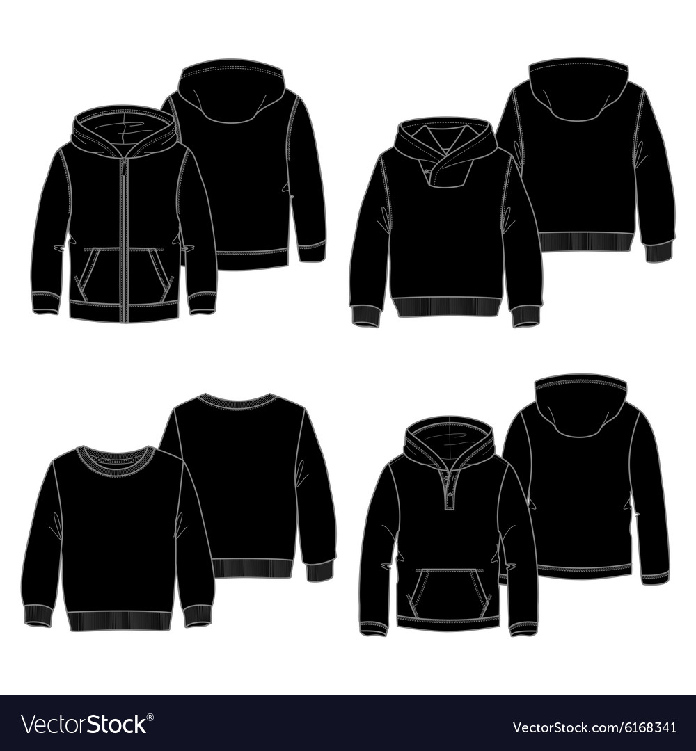 Hoodies 2 black vector