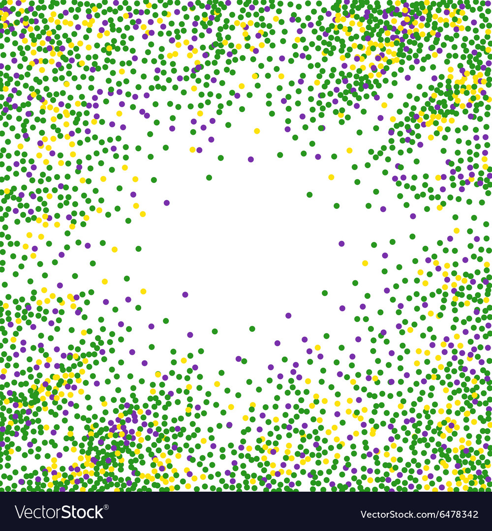 Mardi gras dot background vector