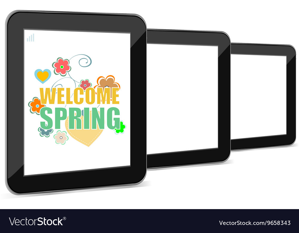 Welcome spring holiday card welcome spring vector