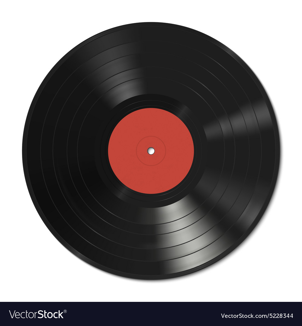 Vinyl record template vector