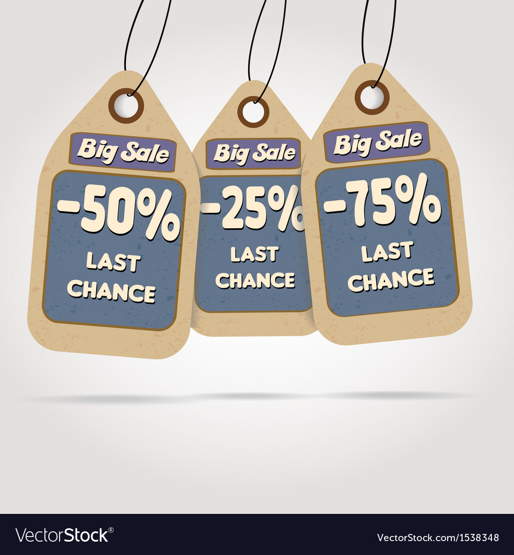 Big sale labels vector