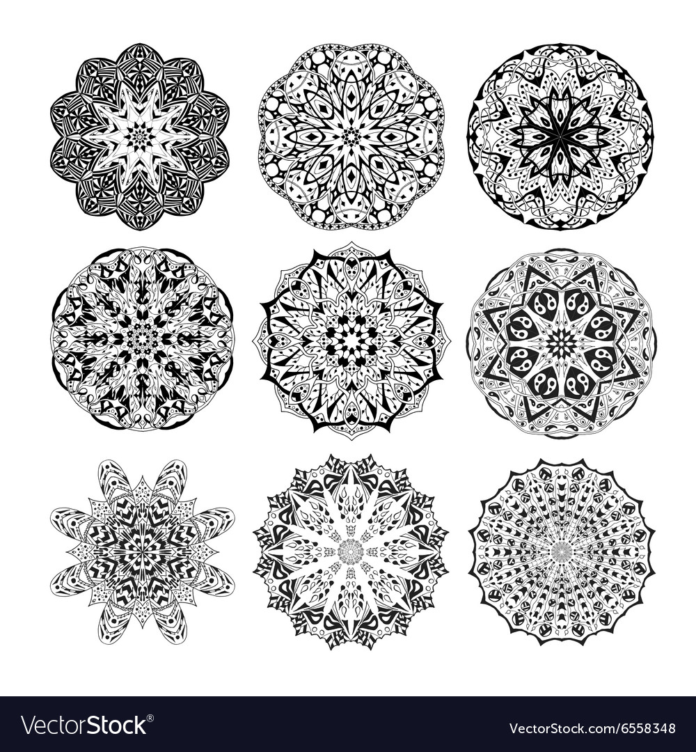 Mandala seamless pattern floral ethnic abstract vector