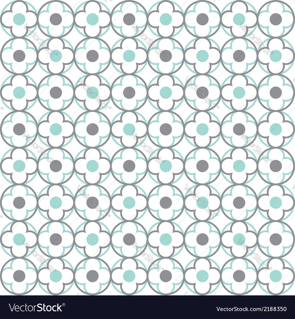Quatrefoil lattice pattern vector