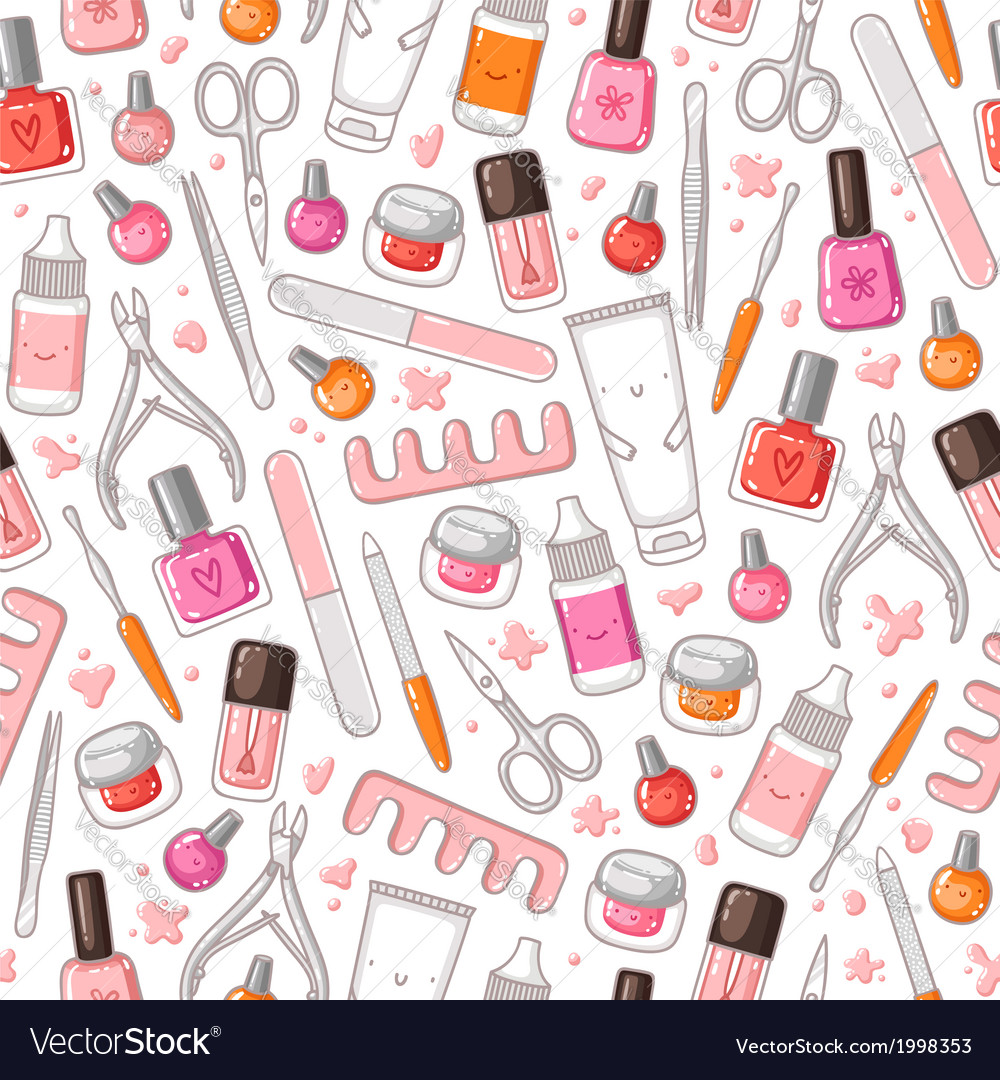 Manicure pattern vector