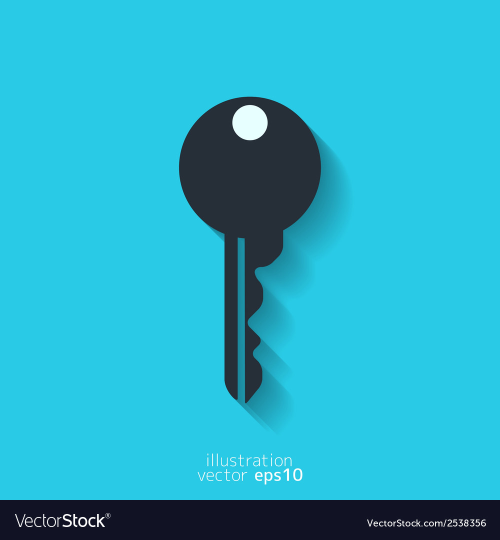Key icon door lock symbol vector