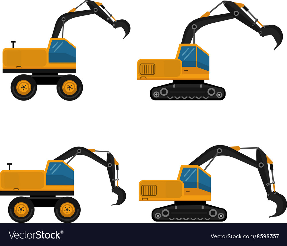 Set of icons construction equipment vector