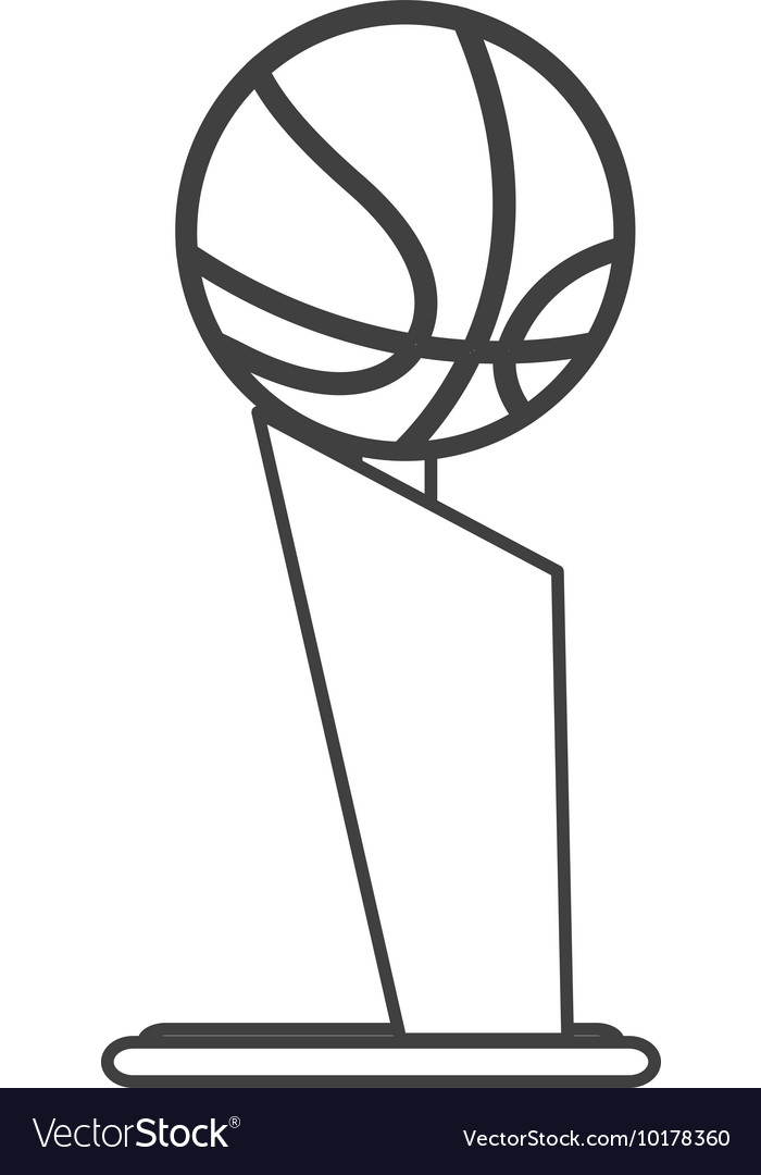 Basketball trophy icon vector