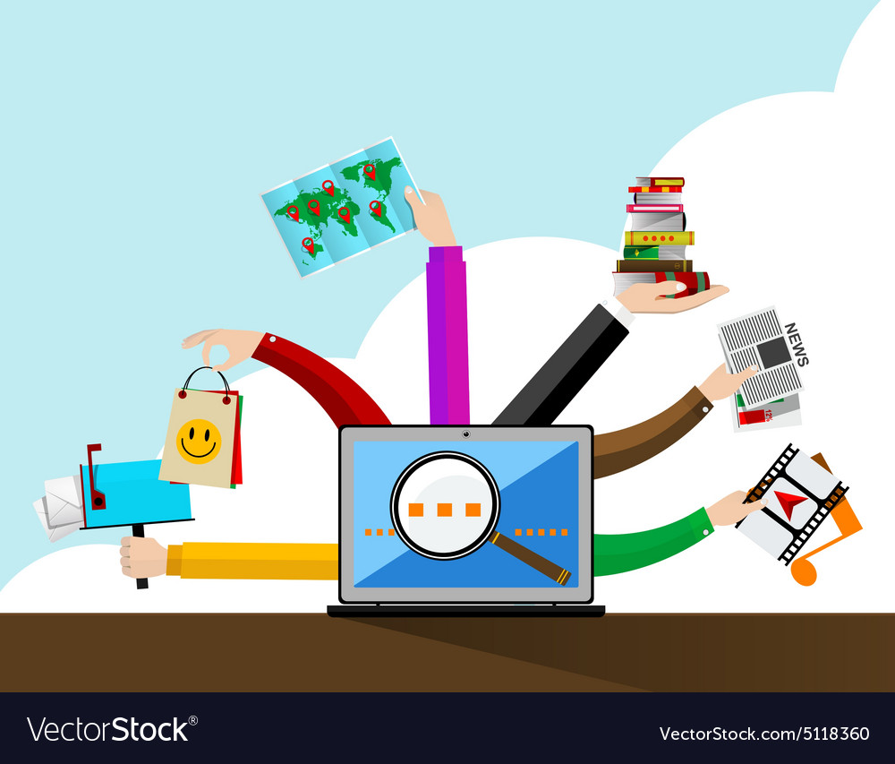 Internet browser vector