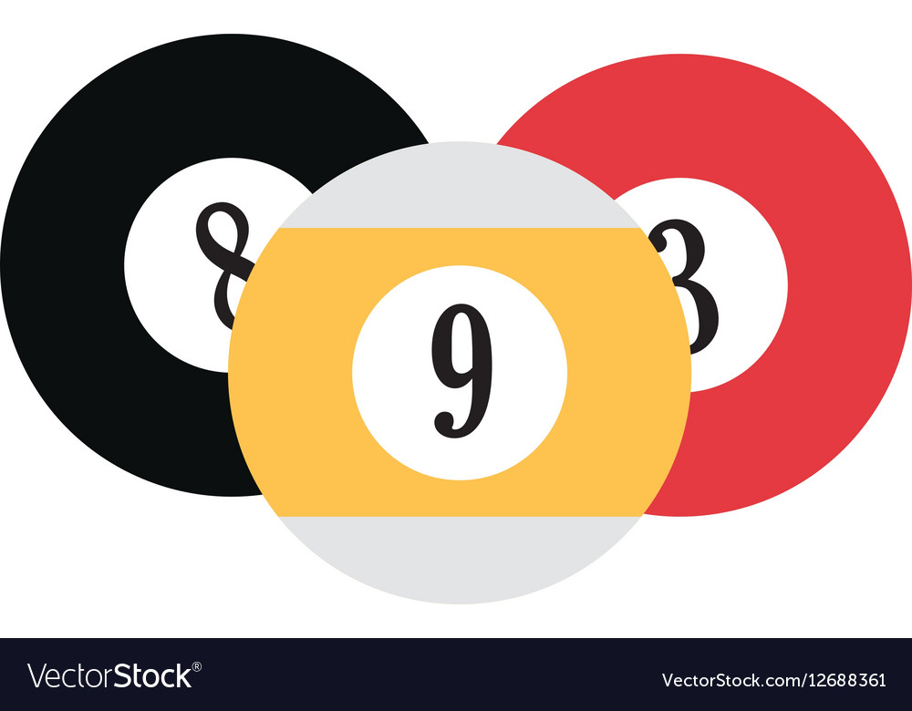 Set balls billard playng table vector